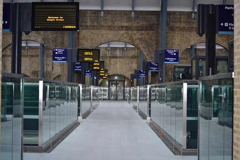 estação de trem em londres