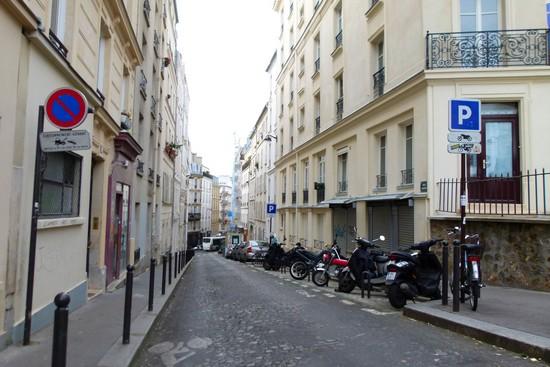 Uma das ruelas de Montmartre
