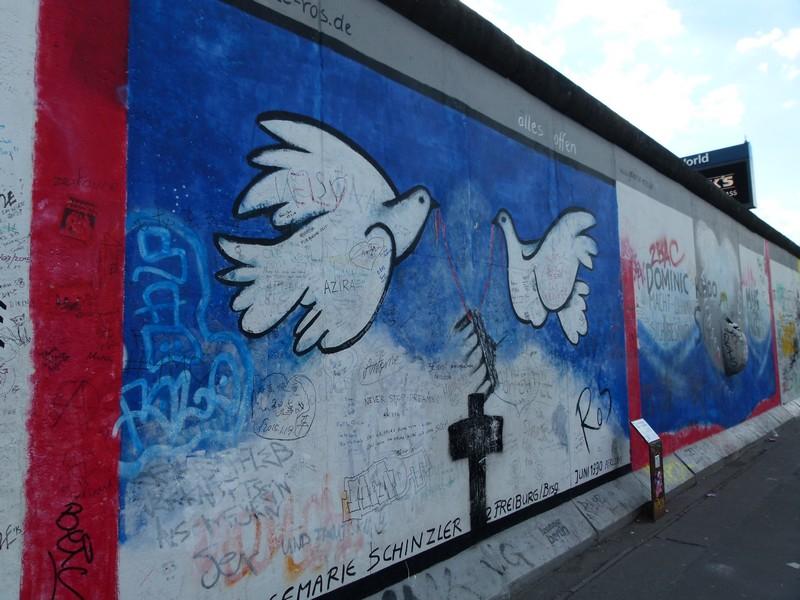 East Side Gallery - o muro de Berlim