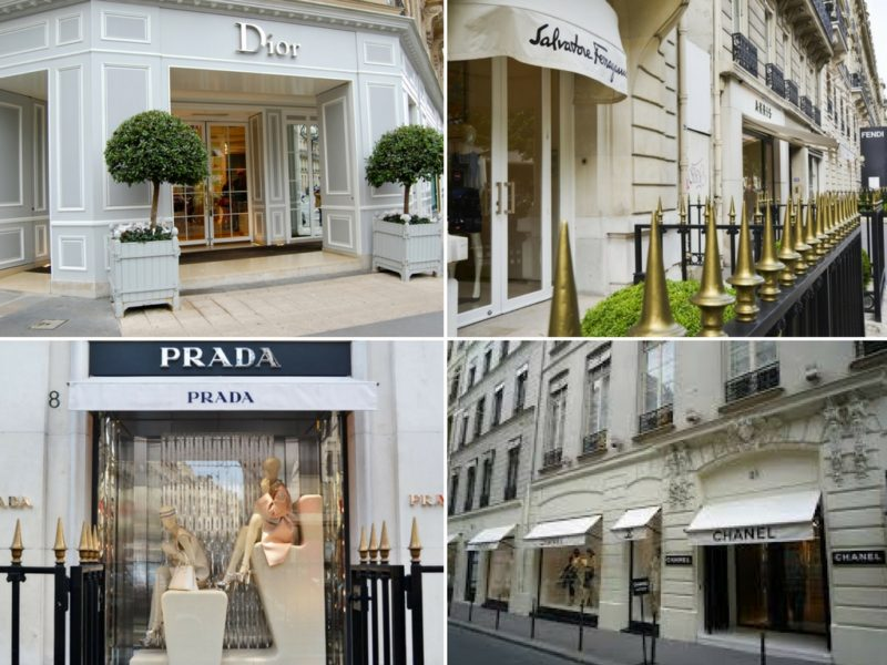 ruas para fazer compras em Paris Avenue Montaigne