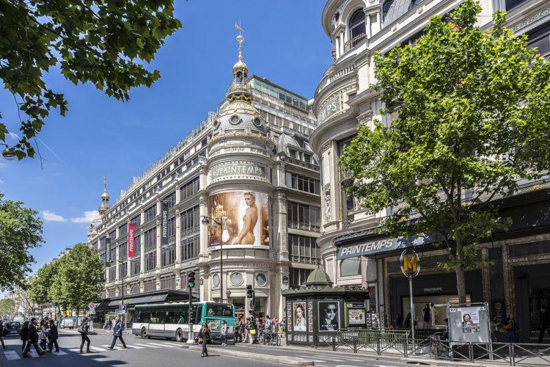 ruas para fazer compras em Paris Boulevard Haussmann