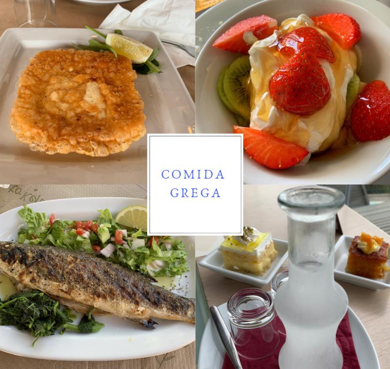 comida grega preciso viajar