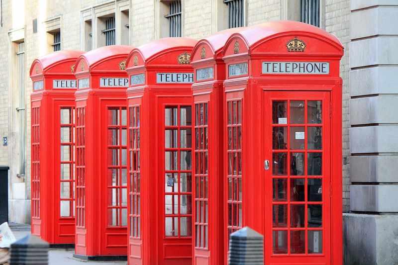 cabines telefônicas de londres